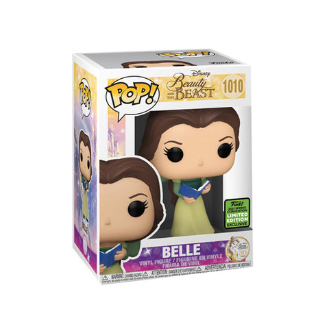 Funko Pop! Disney: 2021 ECCC Funko Shared Exclusive - Beauty and The Beast 30th Anniversary - Belle in Green Dress with Book