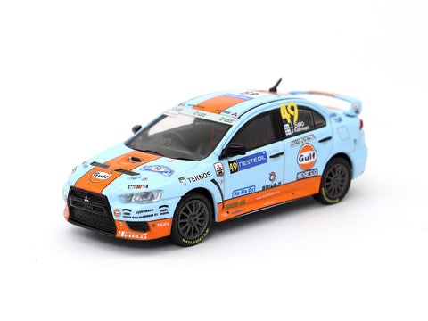 1:64 Mitsubishi Lancer Evolution X Gulf Racing #49