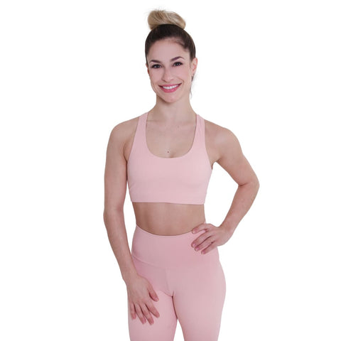 Basic Racer Back Eco Bra Petit Rose - Bras