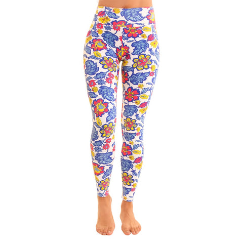 Om Legging Gold Magnolias - Leggings