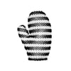 Black & White Striped Exfoliating Mitt (Regular)