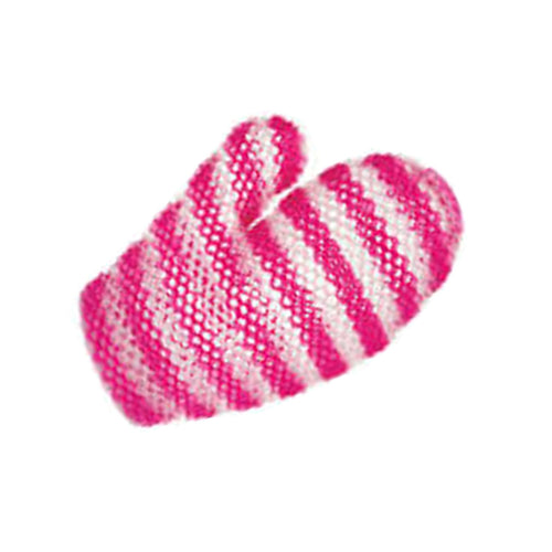 Pink & White Striped Exfoliating Mitt (Regular)