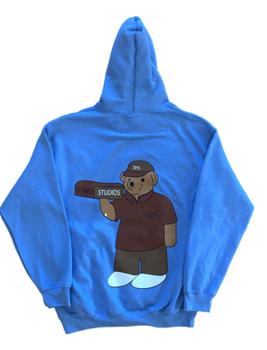 Bear Hoodie - Light Blue