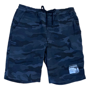 Black Camo Warning Shorts