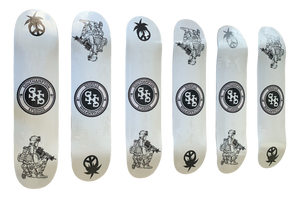 World Peace Skate Deck - White