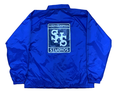 Stamp Logo Coaches Jacket - Blue