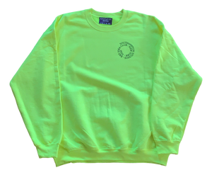 Bad Idea Club Crewneck - Safety Yellow