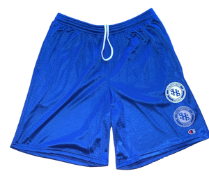 Blue Double Logo Short