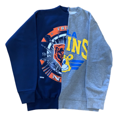1/1 Bears Split Crewneck - Medium