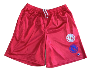 Red Double Logo Short