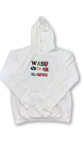 Wash Your Hands Hoodie - White
