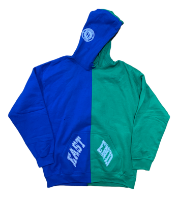 East End Split Hoodie - Blue / Green