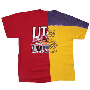 Utah Utes / Los Angeles Lakers Split T-Shirt