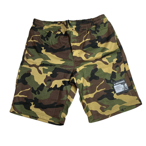 Woodland Camo Warning Sweatshorts