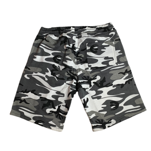 Snow Camo Warning Sweatshorts