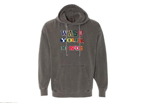 Wash Your Hands Hoodie - Washed Black