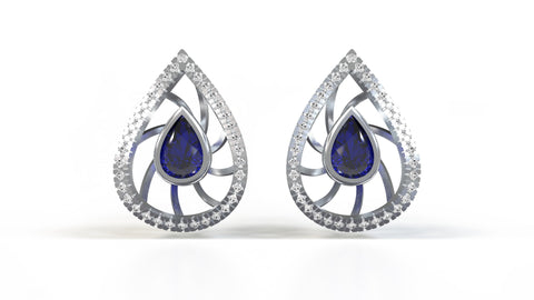Charles-Studs-Blue Sapphire-White-Diamond-14k-White-Gold-Customized-Stud-Earrings-JEWELv-Gift-Guide-Blog-Image