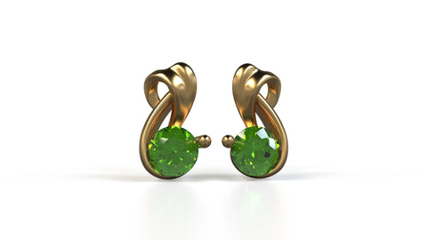 Harbor-Studs-Peridot-14k-Yellow-Gold-Customized-Stud-Earrings-JEWELv