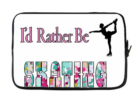 I'd Rather Be Skating Laptop Sleeve