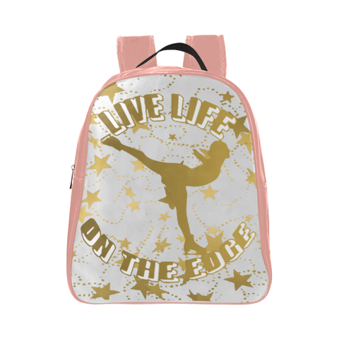 Live Life on the Edge -Children's Small Figure Skating Backpack- Style 2