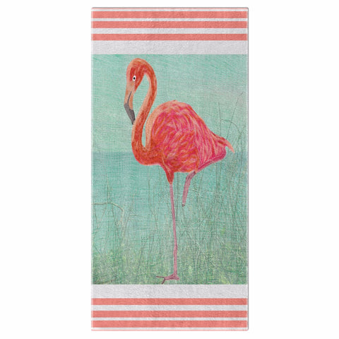 Flamingo Coastal Collection Beach Towel