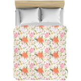 Peonies Abound Pattern in Blush and Pastel Coral - Comforters