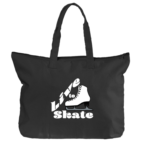 Live to Skate Zippered Tote Bag