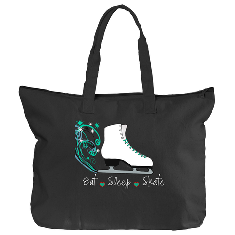 Eat.Sleep.Skate Zippered Tote Bag