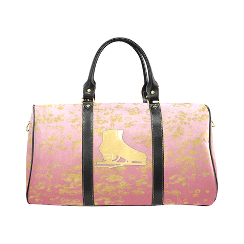 Figure Skate and Gold Flakes - New Waterproof Travel Bag/Large-Style 3