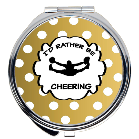 I'd Rather Be Cheering- Compact Mirrors