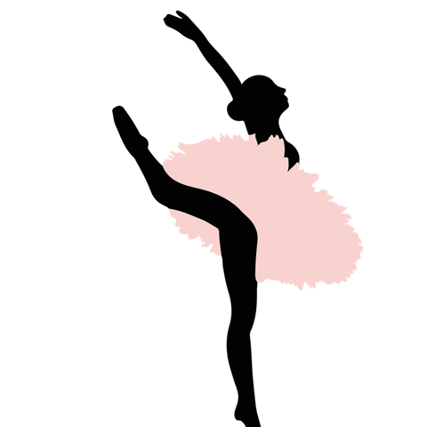 Ballerina on Pointe in Pink Kiss Cut Stickers
