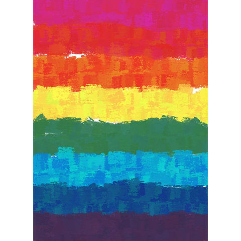 Lgbtqia Pride Flag Kiss Cut Stickers