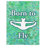 Cheer Born to Fly-Minky Blankets