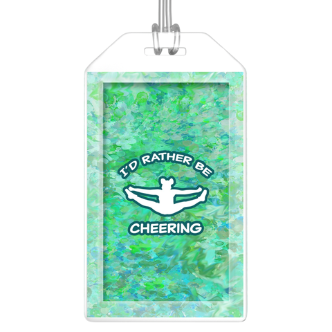 I'd Rather Be Cheering -  Abstract Watercolor Design Luggage Tags