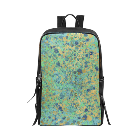 Blues and Gold Patina Design Unisex Slim Backpack