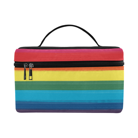 LGBT Pride-Painted Flag Design- Cosmetic Bag/Large
