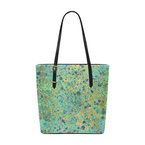Women's Blues and Gold Patina Design Euramerican Tote Bag/Small