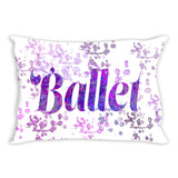 Ballet Water Color Inspired Throw Pillows in Purples