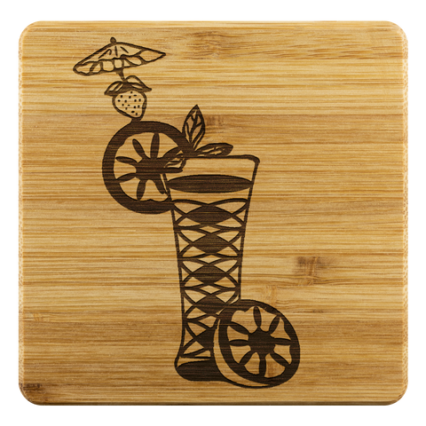 Cocktail Bamboo Coaster Set