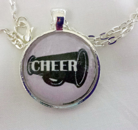 Cheer Pendant and Necklace- Choose Color of Pendant and Move