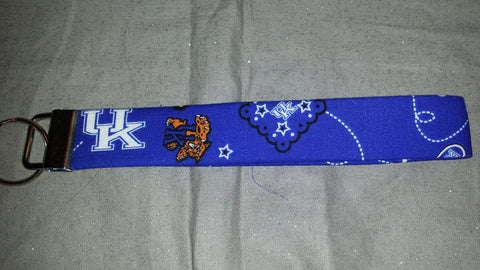 Kentucky Wildcats Fabric Key Fob's