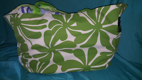 Custom Beach Bag Size Xtra- Large-   Green Botanical