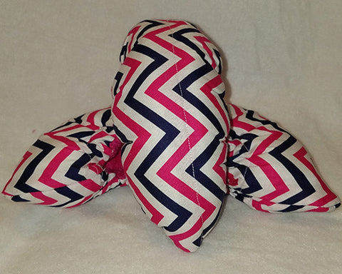 Pink and Navy Chevron Fabric-Figure Skating Soakers - with Terry Cloth Inside