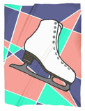 Abstract Skate Minky Blanket