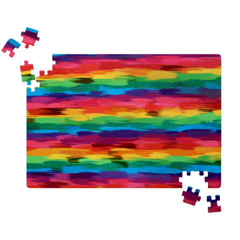 Pride Rainbow Painted Graphic Design  Jigsaw Puzzle