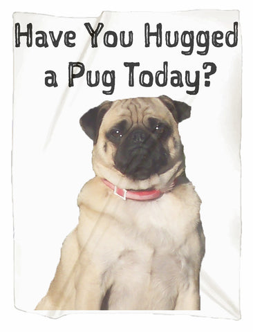 Have you Hugged a Pug Today Minky  Blanket
