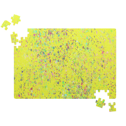 """Formica"" Inspired Design in Yellow-Jigsaw Puzzle"