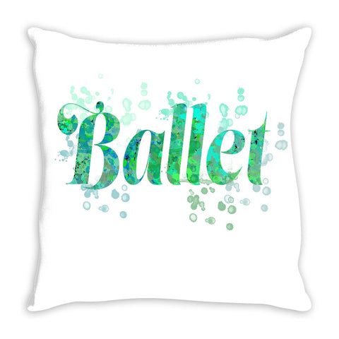 Ballet Water Color Inspired Throw Pillows