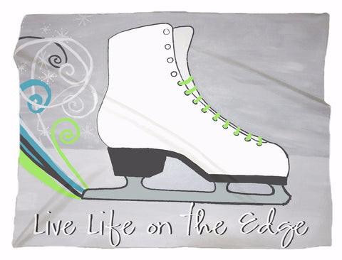 Live Life on the Edge-Skate Minky Blanket in 3 Sizes