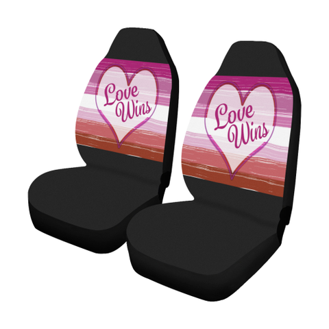 Lesbian Pride Love Wins Car Seat Covers